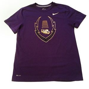 Nike Purple Boys Large Dri Fit Short Sleeve Top